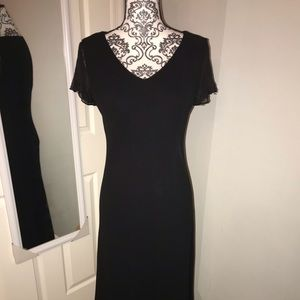 Beautiful black dress with beading on sleeves